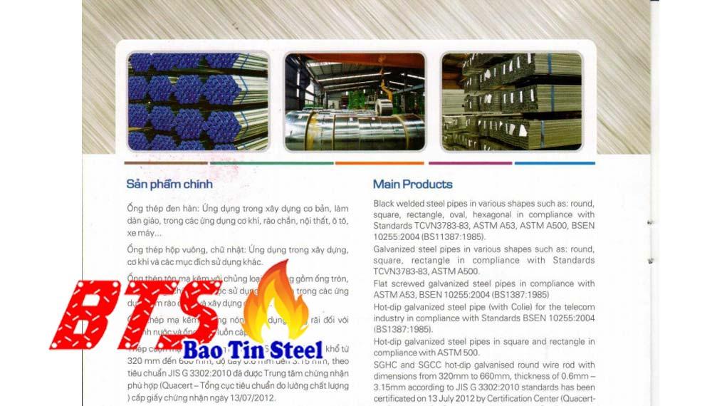 Danh mục sản phẩm ống thép Hào Phát