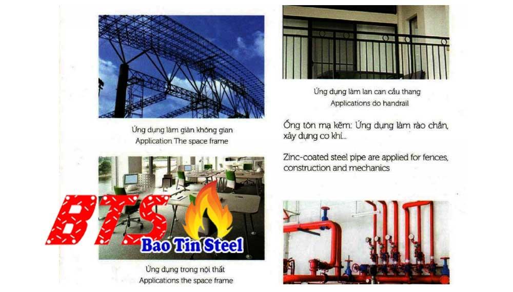 Ứng dụng của ống thép Việt Đức